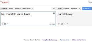 tak tłumaczy google